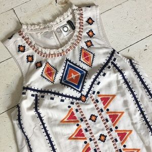 Anthropologie -  Reagan Embroidered Dress
